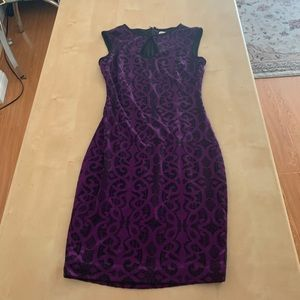 Vintage style purple dress